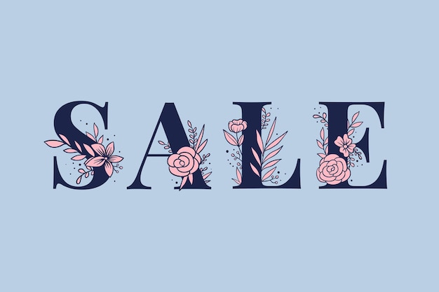 Letras de fontes femininas da palavra venda feminino