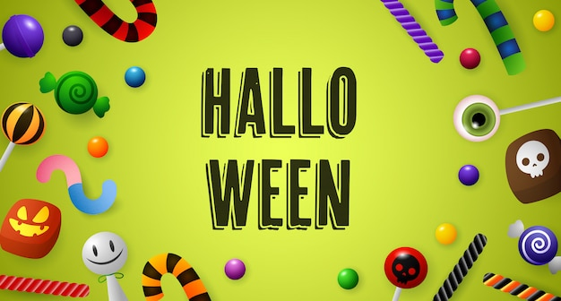 Letras de halloween com confeitaria