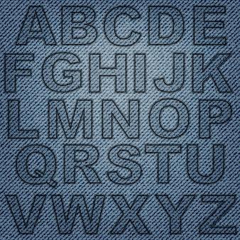 Letras de jeans