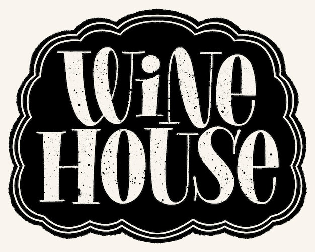 Letras de mão da casa de vinhos