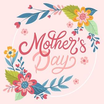 Letras de mão desenhada dia das mães