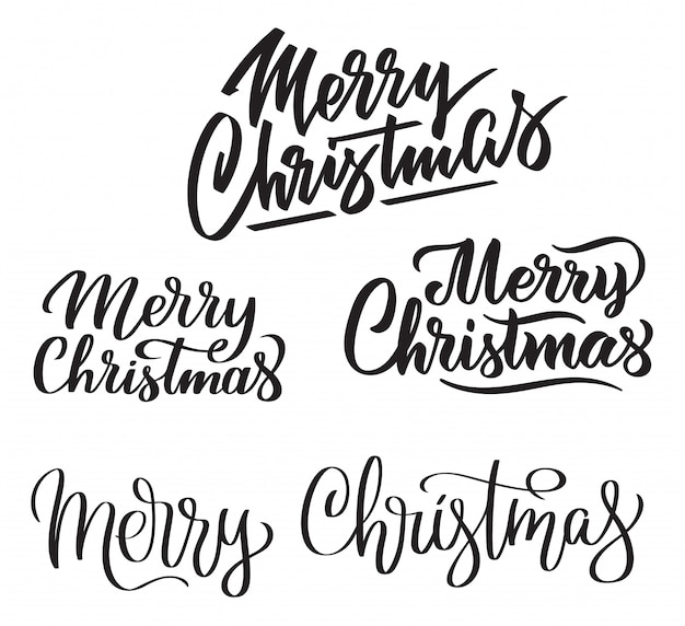 Letras de mão feliz natal