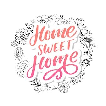 Letras de mão 'lar doce lar'