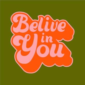 Letras de mensagem auto-positiva no estilo dos anos 70