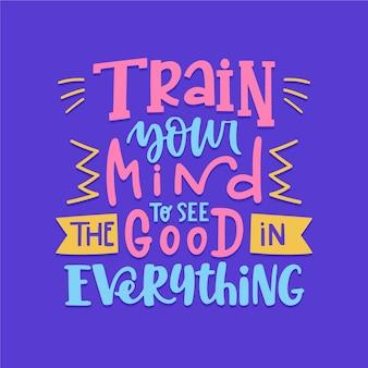 Letras de mensagem de mente positiva
