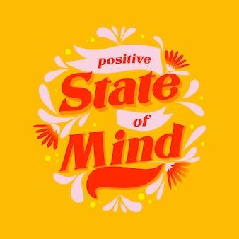 Letras de mente positiva com foto