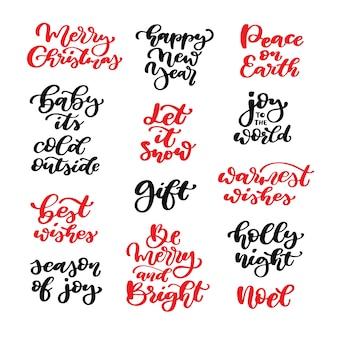 Letras de natal. caligrafia caligrafia isolada
