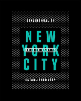 Letras de new york city Vetor Premium