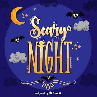 Letras de noite assustadora de halloween