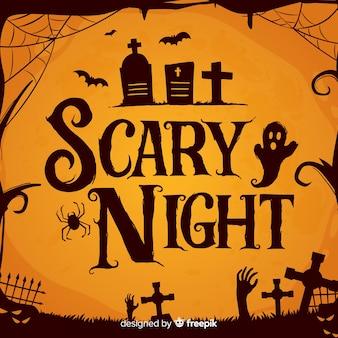 Letras de noite assustadora