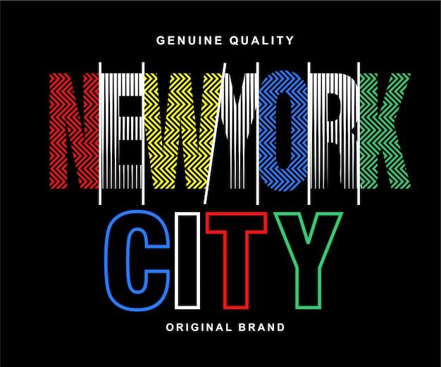 Letras de nova york Vetor Premium