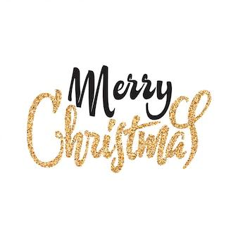 Letras de ouro feliz natal