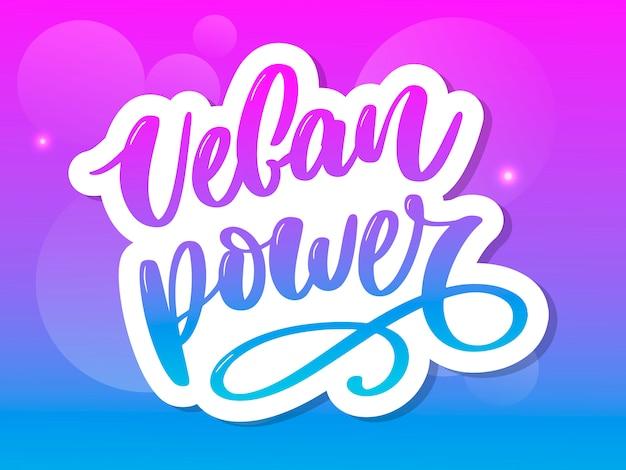 Letras de poder vegan