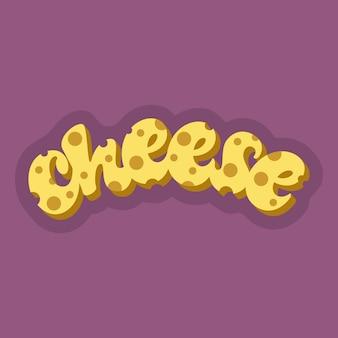 Letras de queijo em roxo
