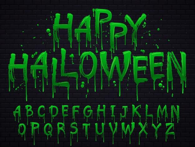Letras de resíduos tóxicos de halloween