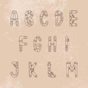 Letras de steampunk font am