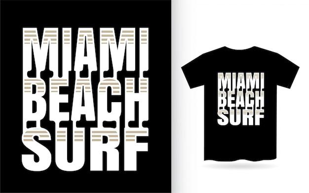 Letras de surf moderno de miami beach