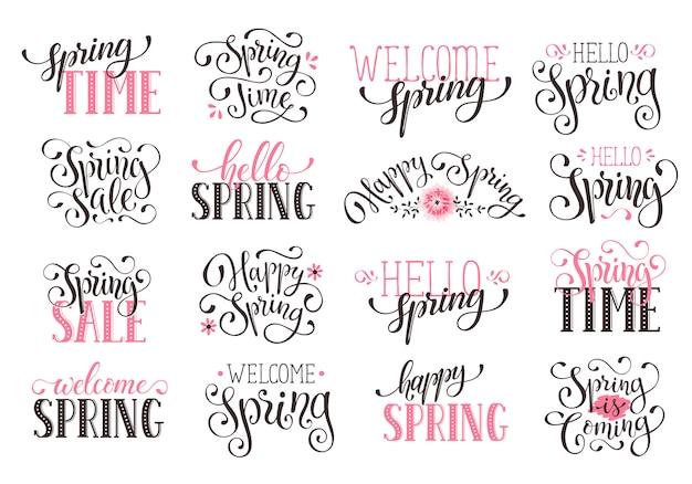 Letras de tempo de primavera