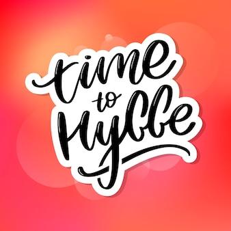 Letras de tempo para hygge