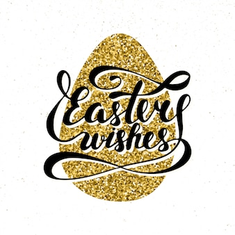 Letras de tipografia de desejos de páscoa
