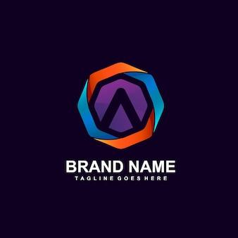 Letras de um design de logotipo abstrato