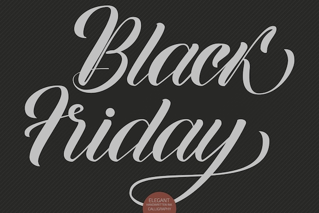 Letras de venda do vetor black friday