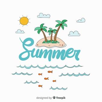 Letras de verão colorido