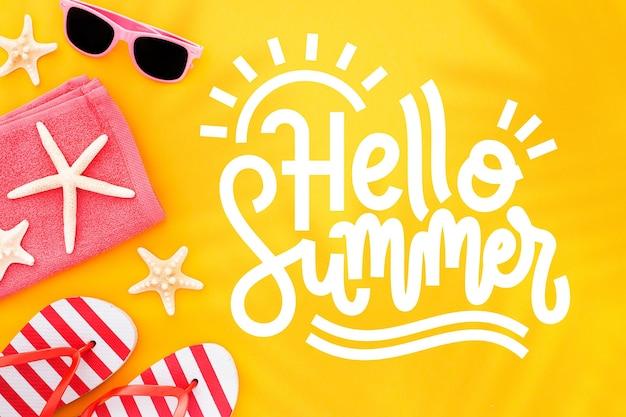 Letras de verão com foto