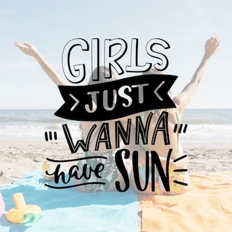 Letras de verão criativo com foto