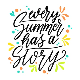 Letras de verão divertido