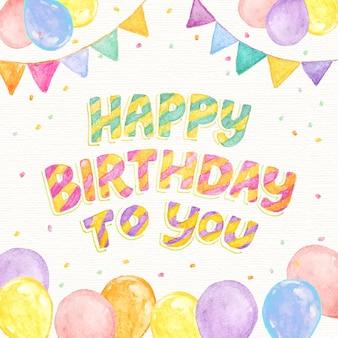Letras detalhadas de aniversário