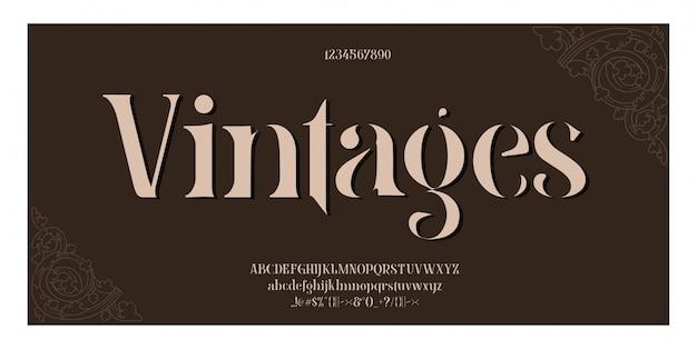 Letras do alfabeto clássico elegante