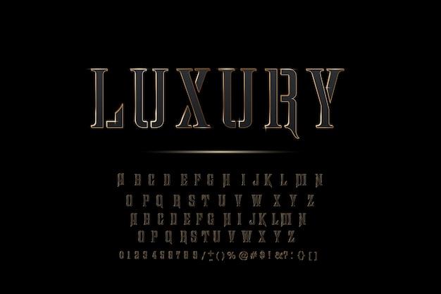 Letras do alfabeto dourado