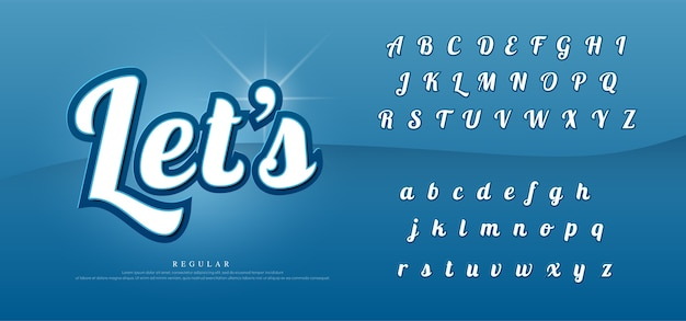Letras do alfabeto elegante de vetor definido.