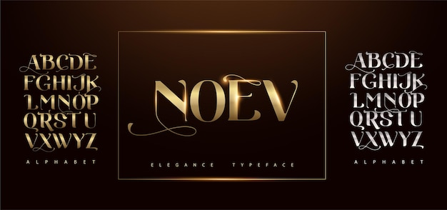 Letras do alfabeto elegante letras clássicas