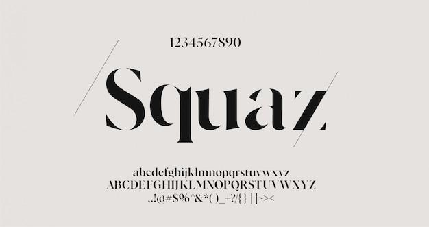 Letras do alfabeto elegante