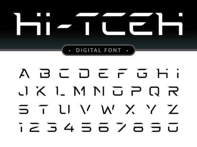 Letras do alfabeto futurista