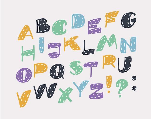 Letras do alfabeto inclinadas símbolos de letras