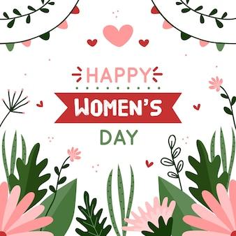 Letras do dia da mulher floral