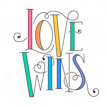 Letras do dia do orgulho arco-íris colorido