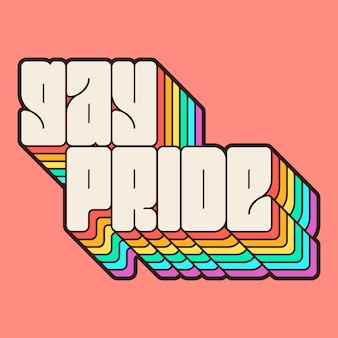 Letras do dia do orgulho com arco-íris