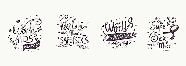 Letras do evento do dia mundial da aids