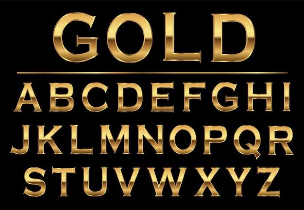 Letras douradas do aplhabet