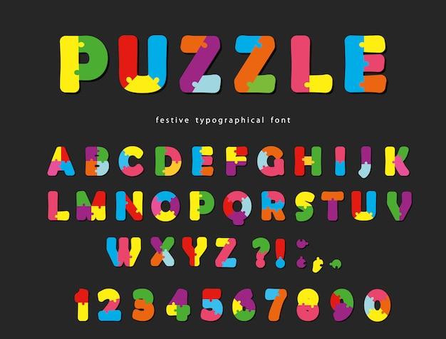 Letras e números criativos coloridos de abc