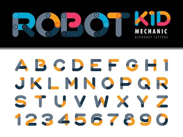 Letras e números do alfabeto