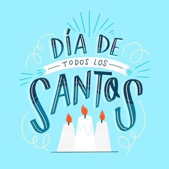 Letras e velas de todos os dias dos santos