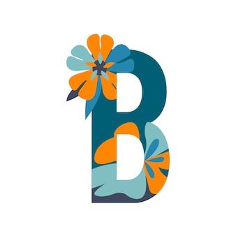 Letras estampadas florais