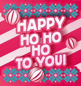 Letras feitas para cartão postal de ano novo. citação inspiradora de natal, mensagem de sinal de saudação