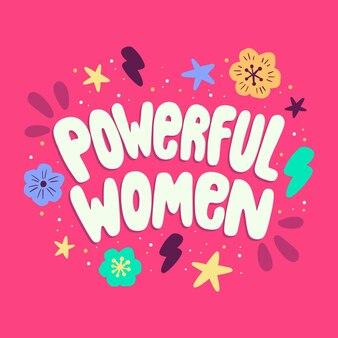 Letras feministas desenhadas à mão