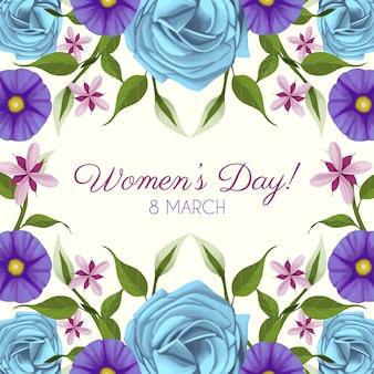 Letras florais do dia da mulher
